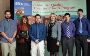 The award winning team pictured at the EPA Indoor Air Quality Symposium